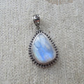 Nepal Silver 925 Silver Pendant inlaid Moonstone No. 1400120109