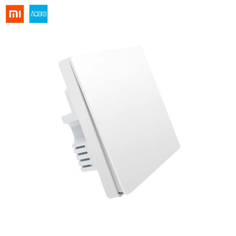 Xiaomi Aqara Light Switch Zigbee version Smart Control Single button Wall Switch work with with Mi Multifunctional hub цена и фото
