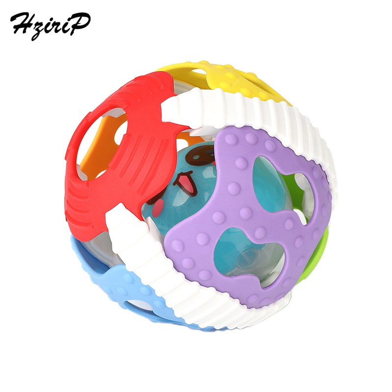 Hzirip Baby Hand Rattle Toys Baby Sound Light Soft Plastic Fitness Ball Infants Young Children Educational Early Childhood Bells