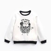 Детский свитер Черный и белый цвета маленький монстр с принтом для девочек свитер на мягкой подкладке нейтральная толстый теплая одежда для мальчиков толстый свитер