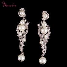 Crystal flower combination ladies earings fashion jewelry luxury bridal wedding earrings beautiful elegant Women RE426