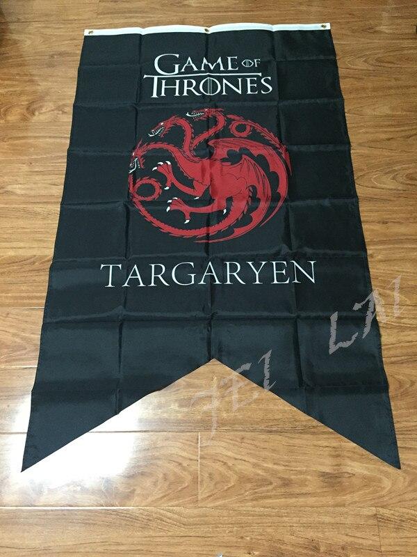 GAME OF THRONES Targaryen Maison tissu tapisserie Affiches Grande Nouvelle Bannière Drapeau 3ft x 5ft