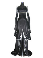 S 3XL Can be tailored Anime xxxHOLIC Cosplay Ichihara Yuko Man Woman Halloween Gothic black dress Cosplay Costume