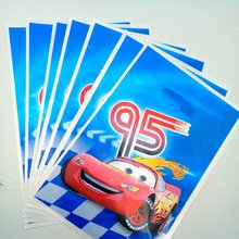 10pcs Lightning Mcqueen Gift Bag Candy/Loot Cartoon  Theme Party Supplies Festival&Event Birthday Decoration Favor
