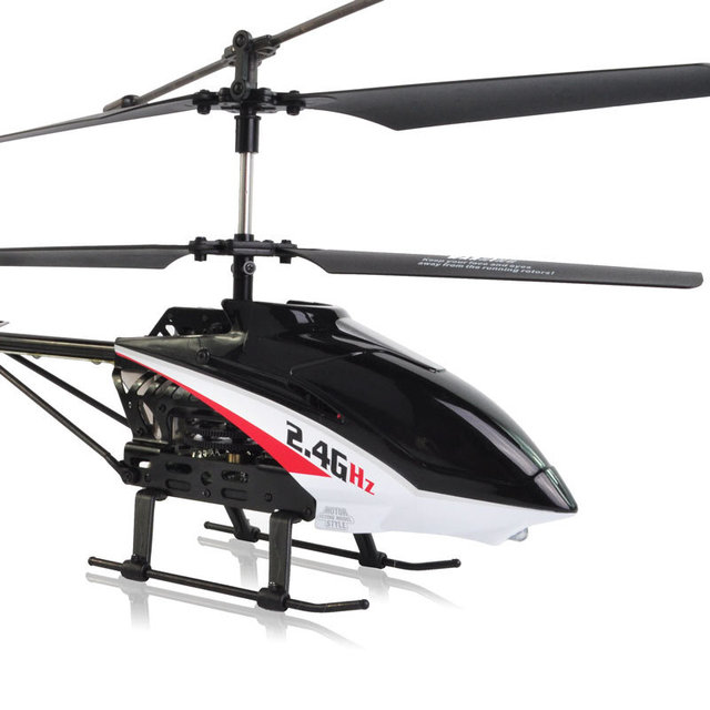FREE SHIPPING Medium-sized 2.4G wireless remote control helicopter alloy rc helicopter 100M contrl LED light  UDir/c U13