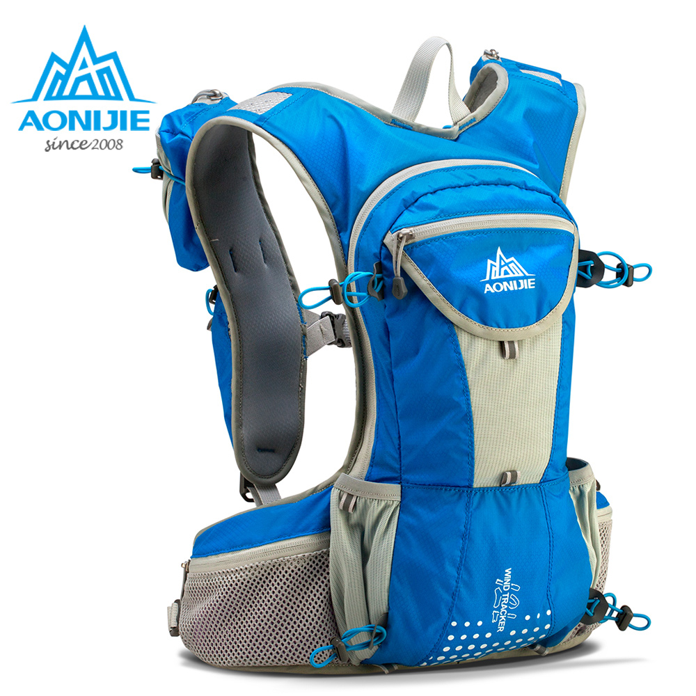 AONIJIE E905 Hydration Pack Backpack Rucksack Bag Vest Harness Water Bladder Hiking Camping Running Marathon Race Sports 12L