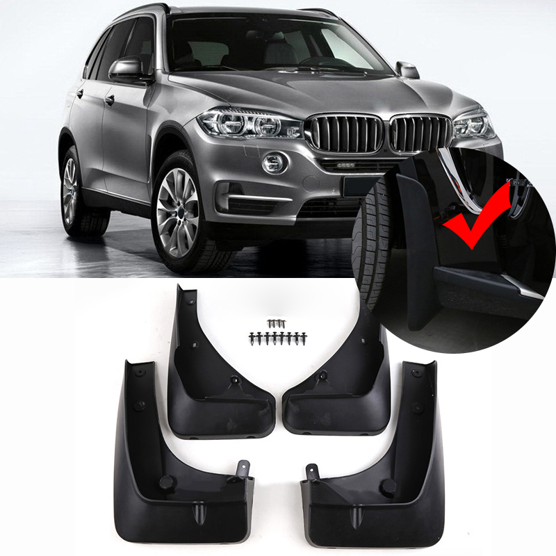 OE STYLED FRONT REAR MOLDED MUD FLAPS FIT FOR 2014-2016 BMW X5 F15 MUD FLAP SPLASH GUARD MUDGUARDS FENDER KIT ACCESSORIES for ford explorer 2013 2018 plastic more fashion front rear mud guard mudguards splash flaps cover protector trim 4 piece