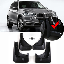 OE STYLED FRONT REAR MOLDED MUD FLAPS FIT FOR 2014-2016 BMW X5 F15 MUD FLAP SPLASH GUARD MUDGUARDS FENDER KIT ACCESSORIES цена в Москве и Питере