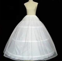 white Hot sale Cheapeat 3 Hoop Wedding Bridal Gown Dress a line Petticoat Underskirt Crinoline Wedding Accessories