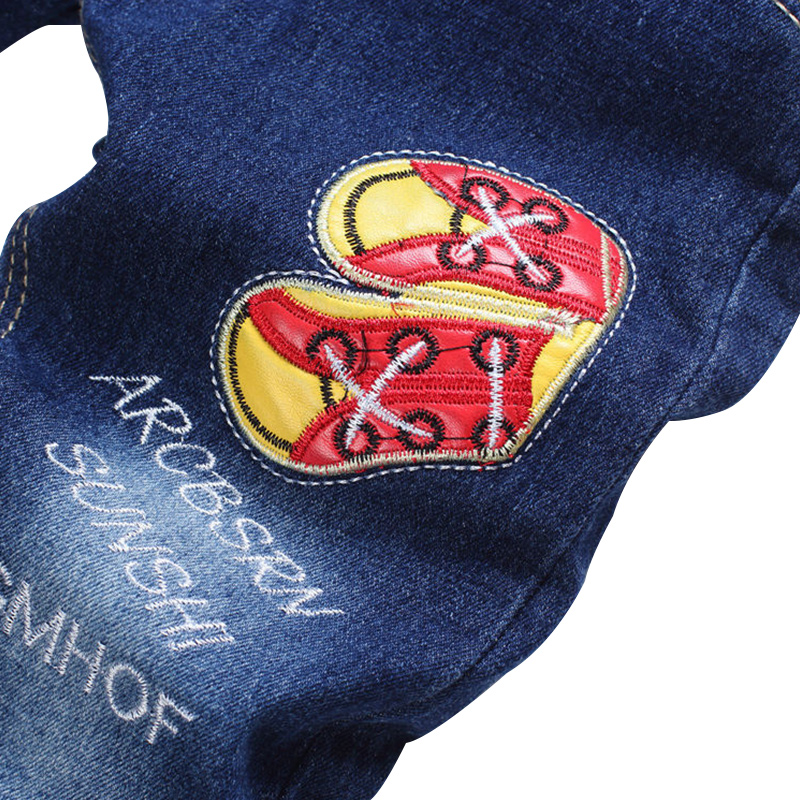 New Patch Boys Jeans Pants Spring Autumn Print Kids Jeans Trousers 2017 Baby Jeans With Embroidery Ripped Denim Trousers Baby (5)