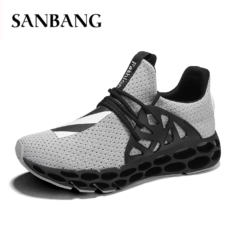 summer Outdoor Athletic Hot Sale air mesh Sport Shoes for Man Breathable Air Mesh Sock Sneakers Pink Jogging Footwear px4 instantarts women flats emoji face smile pattern summer air mesh beach flat shoes for youth girls mujer casual light sneakers