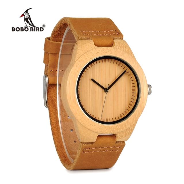 relogio masculino BOBO BIRD Bamboo Watches Men Women Luxury Brand Quartz Watch reloj mujer Accept Engraving Drop Shipping Women Quartz Watches