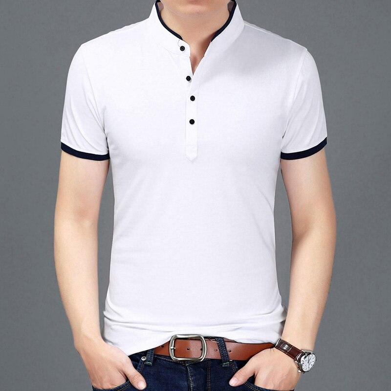 2017 Summer New Fashion Brand Clothing Tshirt Men Solid Color Slim Fit Short Sleeve T Shirt Men