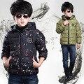 Зима Утолщаются Дети Верхняя Одежда Теплое Пальто Спортивный Детская Одежда Ветрозащитный Мальчики Куртки 4-14 Т