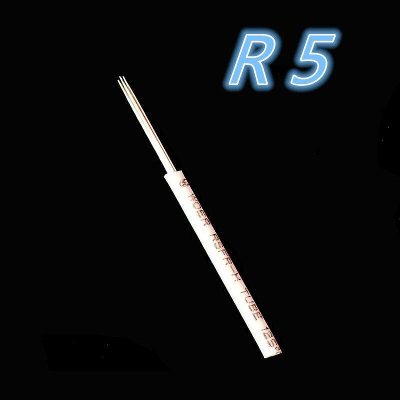 100pcs R5 Round Needle Microblading Manual Needles for Fog Eyebrow Lamina Shading Tebori Permanent Makeup
