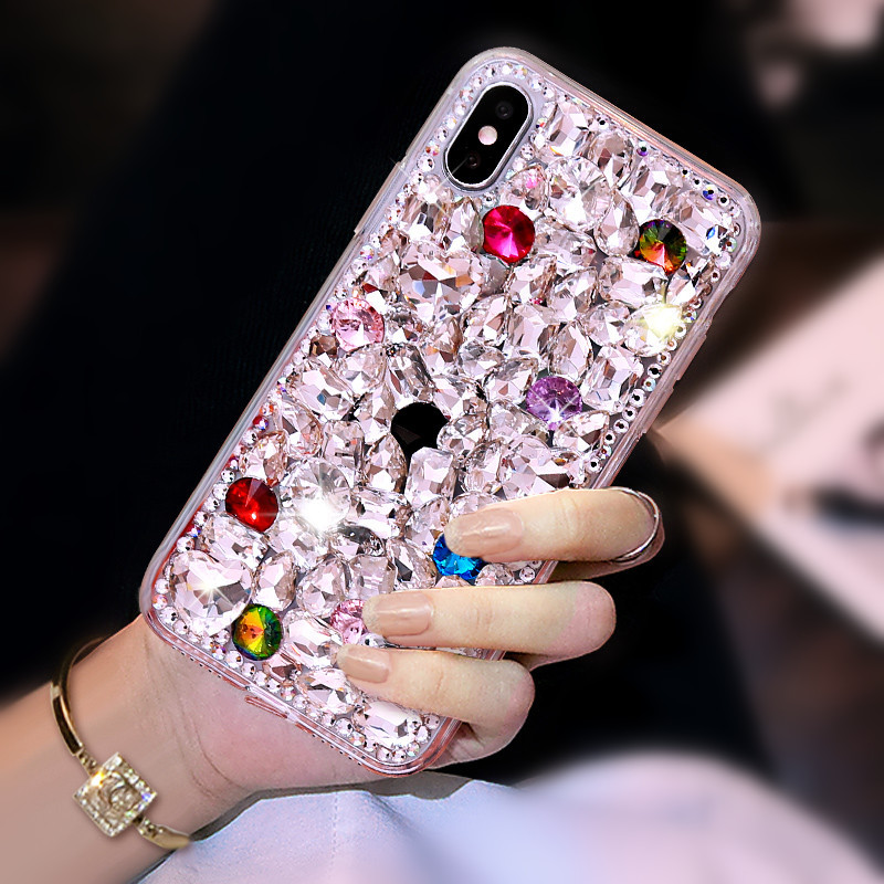 1Pcs Luxury Crystal Rhinestone Diamond Bling Phone Case For OPPO F1s R9s R11 R11s Plus A39 A59 A77 A73 A79 A83 A71 F3 F5 F7 R15