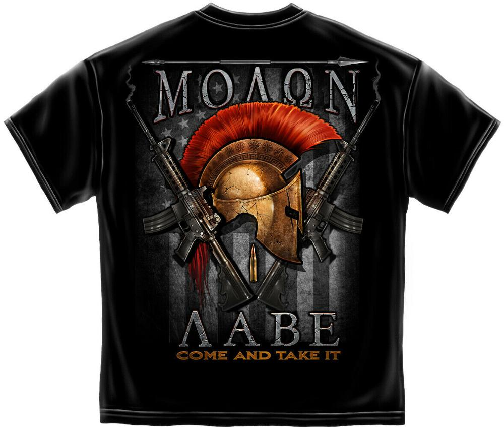 Double Side 2Nd Second Amendment <font><b>Ar</b></font>-15 Guns Riffle Flag Usa Molon Labe Nra T-<font><b>Shirt</b></font> 2019 Fashion High Quality Men T <font><b>Shirt</b></font> Design image