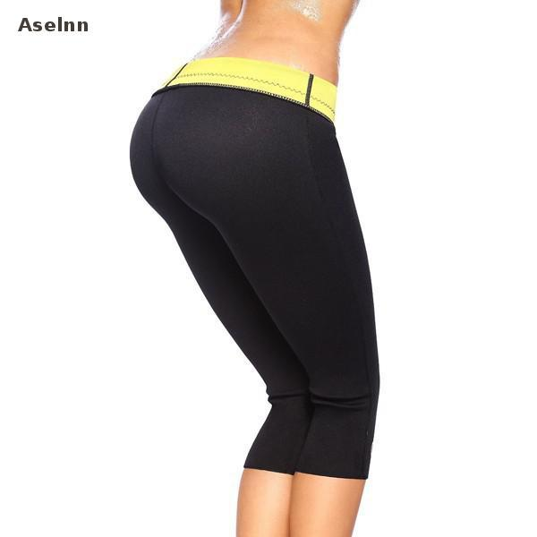 Aselnn Hot Sale Super Stretch Women Hot Shapers Control Pants Female Pants Neoprene Slimming Body Shaper Pants Women