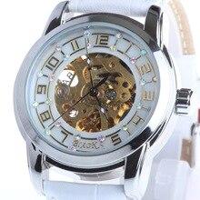 Top Luxury Genuine Leather Strap Skeleton Sport Analog Women Mechanical Automatic Wrist Watch relogio feminino