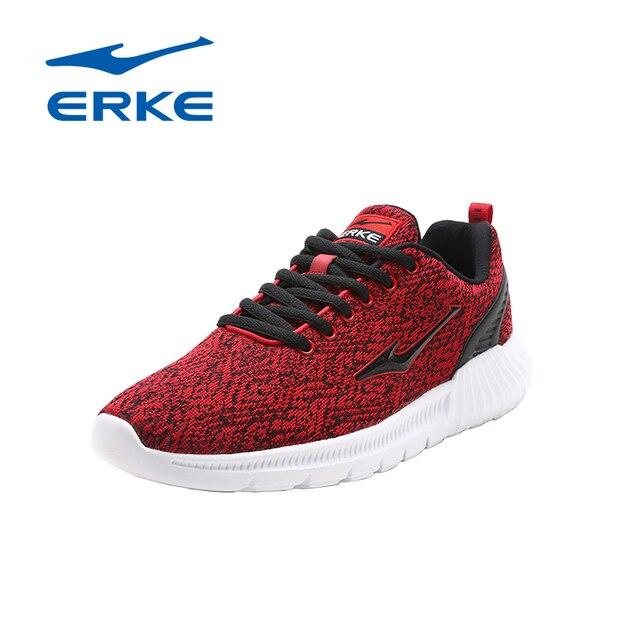 Ерке фирменные спортивные кроссовки для мужчин ультра легкие дышащие кроссовки Zapatos 2017 на шнуровке спортивная обувь