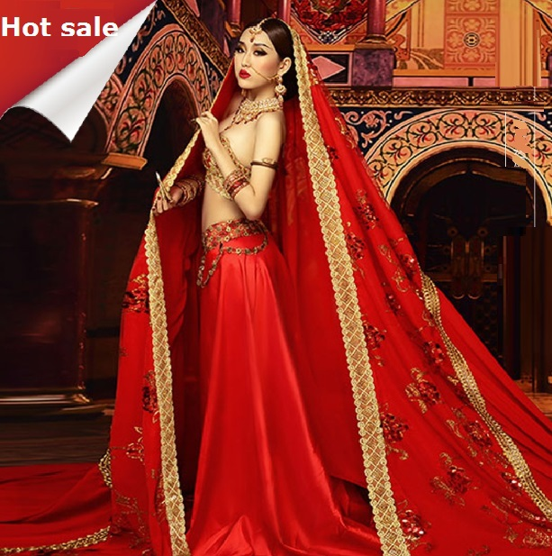 Top 2015 nouveau photographie photo vêtements Inde Sari mariée costume  TO27