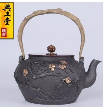 2018 new style 1.2L Spring iron pot tea set without coating imitation Japanese cast iron pot South pig iron kettle2018 new style 1.2L Spring iron pot tea set without coating imitation Japanese cast iron pot South pig iron kettle