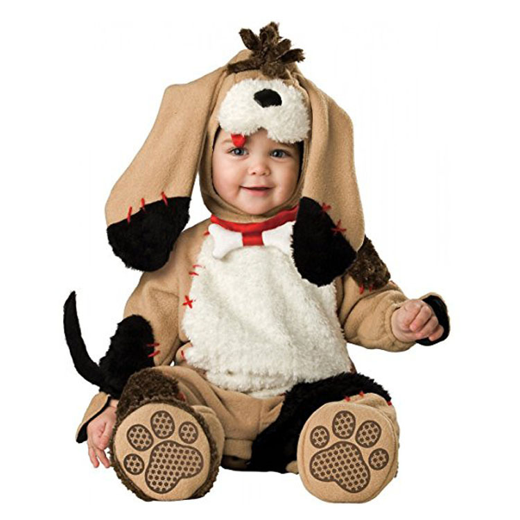 Halloween Cute Puppy Baby Boys Rompers Animal Cosplay Cat Girls Jumpsuits Baby Dog Costumes Infants Clothes For Christmas kids clothes fleece romper set baby boys girls jumpsuits overalls 2015 winter animal cosplay shapes halloween christmas costume