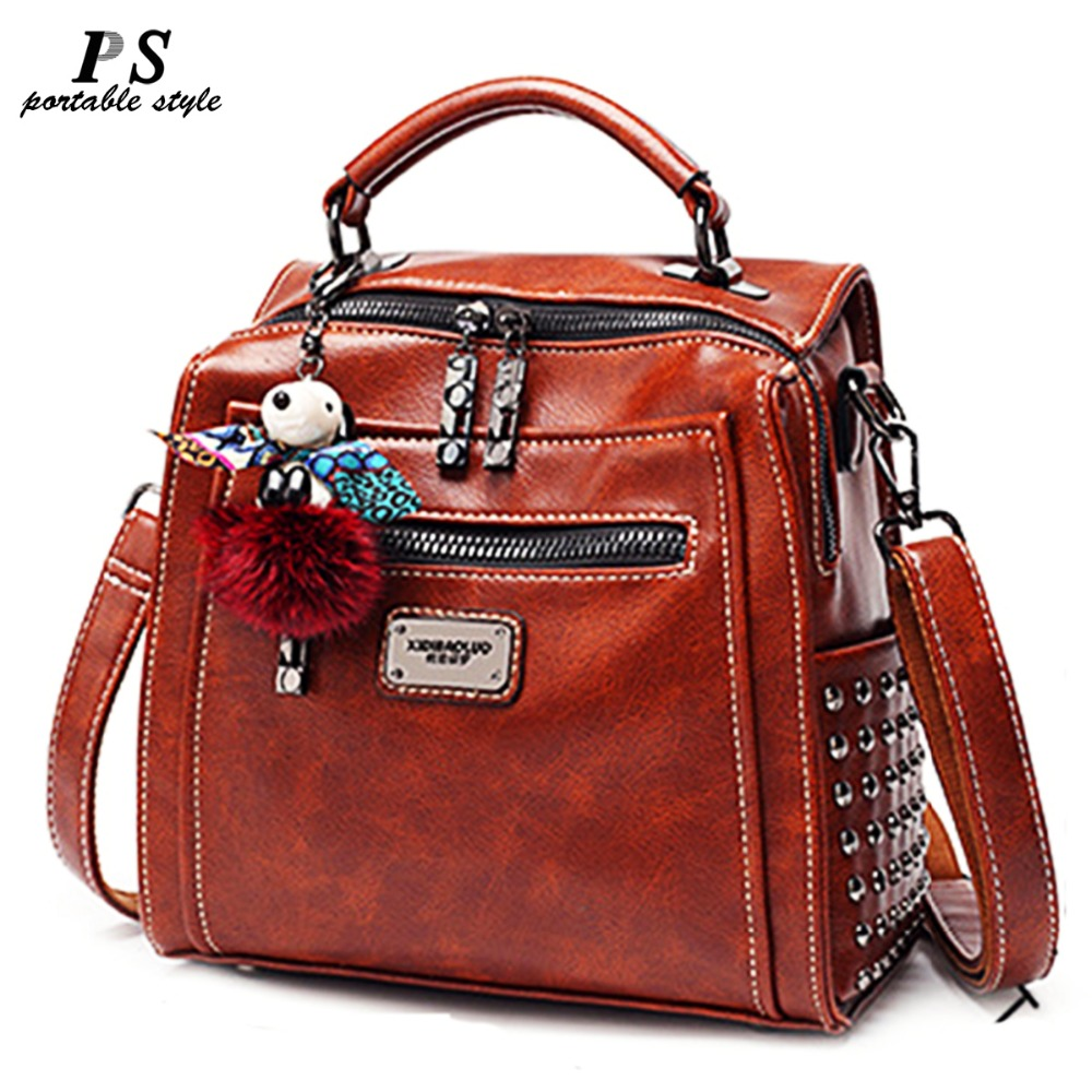 High Quality Women backpack 100% genuine leather back pack Famous Brand lady real leather backpacks fashion preppy style bag