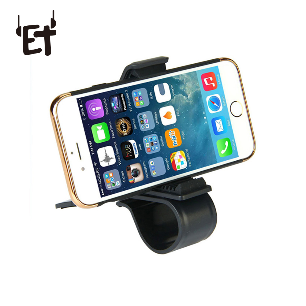 ET Universal Car Phone Holder Adjustable Dashboard Mount Mobile Phone Holders with Clip Smartphone Bracket for iphone Xiaomi GPS