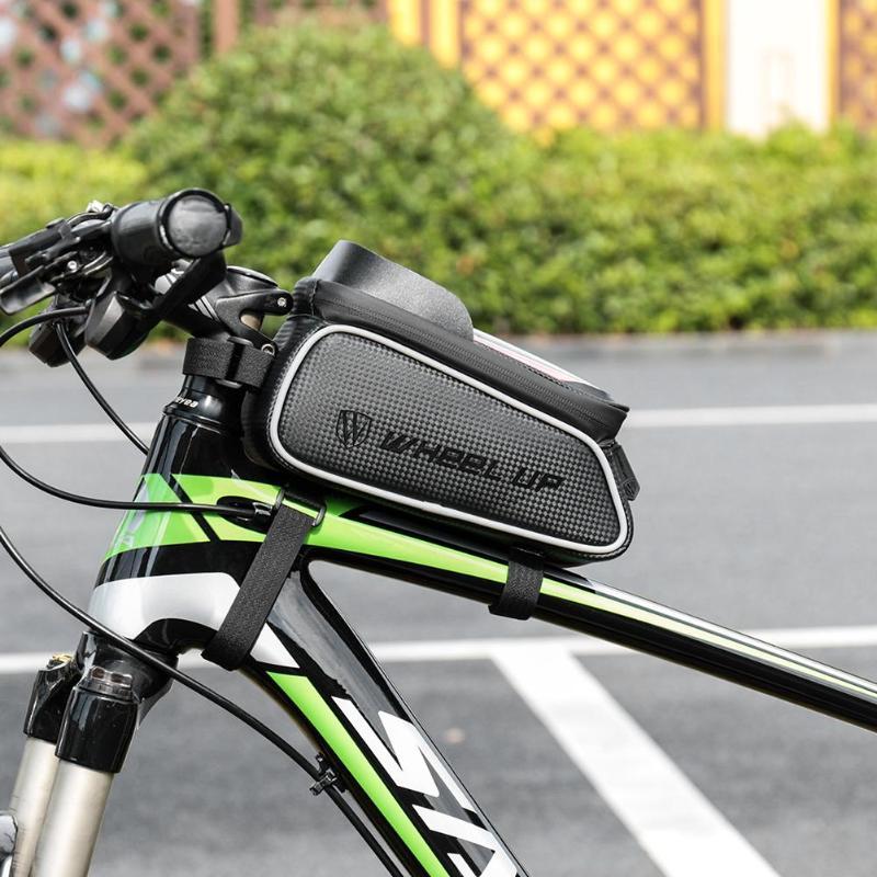 Купить с кэшбэком Wheel Up Touch Screen Front Top Tube Bike Bags Rain Resistant Mountain Bike Road Cycling Bags 6.0 Inch Bike Cells Phone Cases Ho