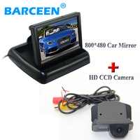 foldable 4.3 hd lcd car display monitor and rainproof car back up camera car parking system for Toyota Corolla 2011/2012/2013
