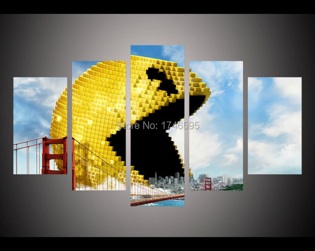modern living room wall decor home decoration Pixels game movie ...