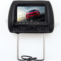 7 inch car Monitor General Car Headrest Monitor with touch button and remote control Beige/Gray/Black AV USB SD MP5 FM