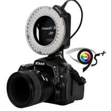 Original de la marca Aputure AHL-HN100 CRI 95 + Macro Ring Flash de luz para Nikon DSLR cámara Dropshipping