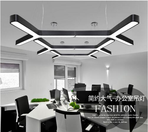 X Office chandelier light office building lighting Shopping malls supermarkets lamp meeting room Corridorlights LEDX Office chandelier light office building lighting Shopping malls supermarkets lamp meeting room Corridorlights LED