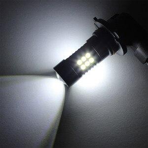 Image 3 - Light Bulbs For Cars 2Pcs LED Fog Lights For Car 6500K White HB3 9006 3030 LED 21SMD Car Headlight Fog Beam Power Bulb