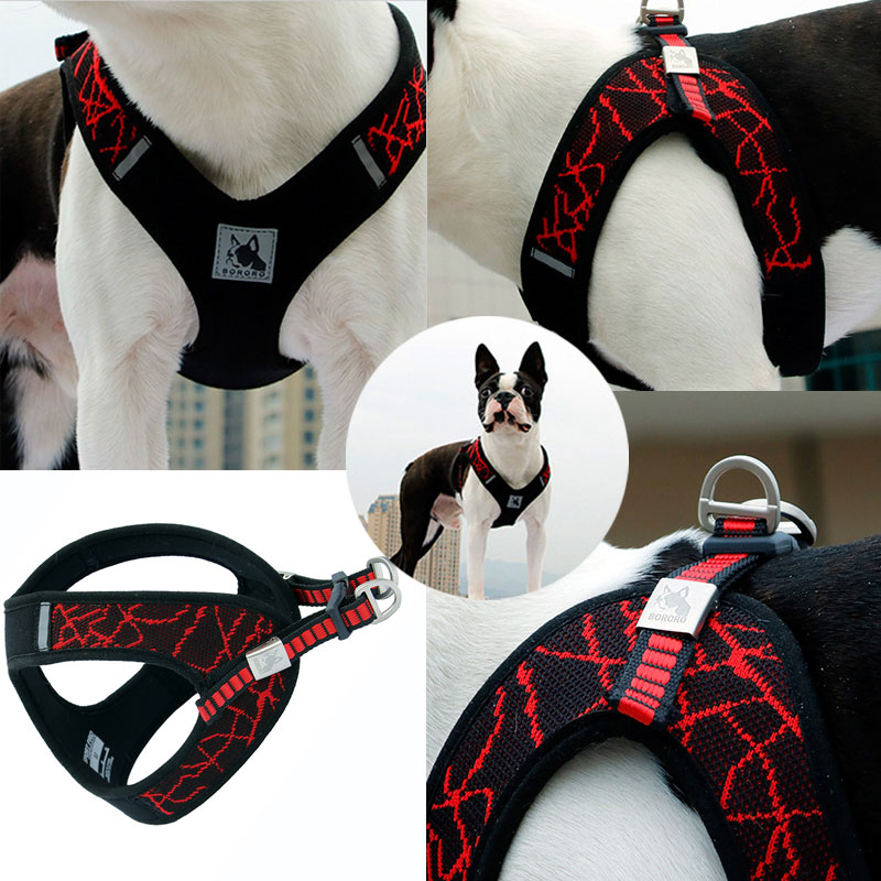 Pet Supplies Reflective Dog Harness Collar Soft Adjustable Harness Vest Dog Chest Strap For Small Medium Dogs Dog Accessories