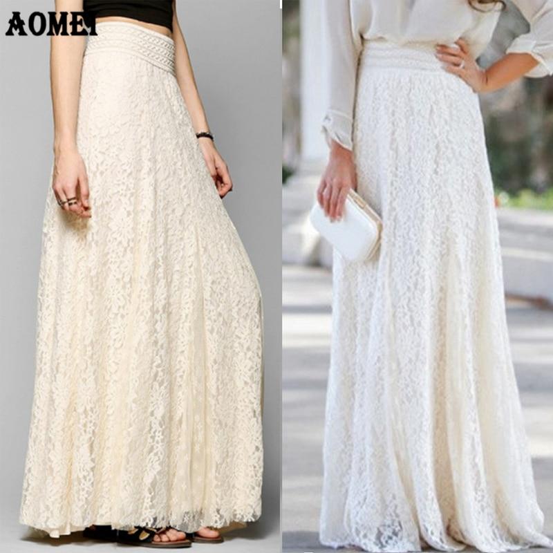 Ladies Tulle Long Goddess Skirt Women Lace White Black Mesh Fashion Party Princess Lolita Elegant Jupes Saias Petticoat 2019