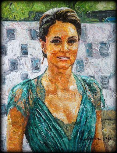 Princesse kate middleton palette knife impressionnisme peinture l 39 huile van gogh afrique - Peinture a l huile van gogh ...