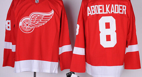 online store d500f 4f4a9 US $31.99 |Discount Detroit Red Wings Mens Jerseys #8 JUSTIN ABDELKADER Red  Ice Hockey Jersey,Embroidery And Sewing Logos,Size M XXXL 596-in Hockey ...