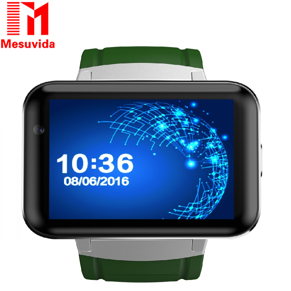DOMINO DM98 Big Screen Smart Watch Android 4.4 3G Smartwatch Phone MTK6572 Bluetooth GPS Wrist Watch Cell Phonewatch With Camera smart baby watch q60s детские часы с gps голубые