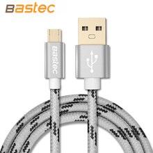 Samsung/sony/xiaomi/android bastec плетеный позолоченный провод металлический корпус micro разъем кабель телефон