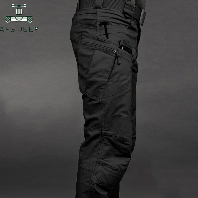 2019 Waterproof Tactical Pants Military Cargo Pants Men Breathable SWAT Army Solid Color Combat Trousers Casual Work Trousers