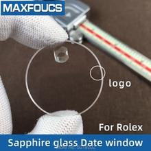 Verre cristal saphir, pour Rolex, fenêtre de date, verre de montre anti rayures, avec logo, 32.65x29.4x25.3x21.3mm