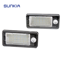 2x SUNKIA Car LED License Plate Light Canbus Error Free Function For Audi A3 S3 A4