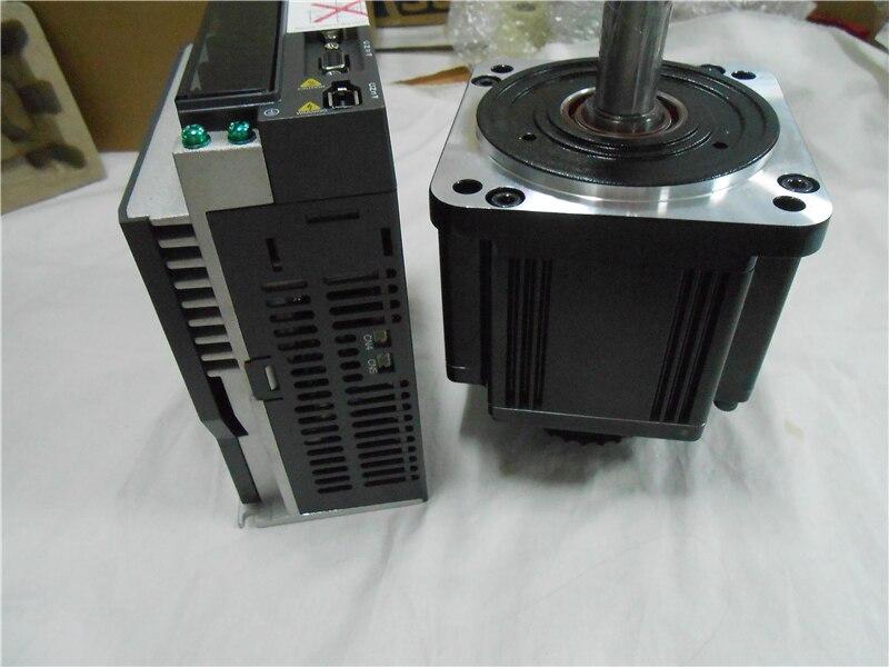 CNC 2KW AC Servo Motor Drive kits System 220V 6.37NM 100mm with Brake 3M Cable ECMA-C11020SS+ASD-A2-2023-M new original asd b2 2023 b ac sevor drive 3ph 220v 2kw 13 4a