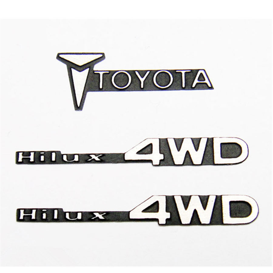 <font><b>RC</b></font> CAR <font><b>Body</b></font> Shell Metal LOGO STICKERS Fit For <font><b>1</b></font>/<font><b>10</b></font> Scale Rock Crawler Toys Truck <font><b>Tamiya</b></font> Hilux BRUISER Model Upgrade Accessories image