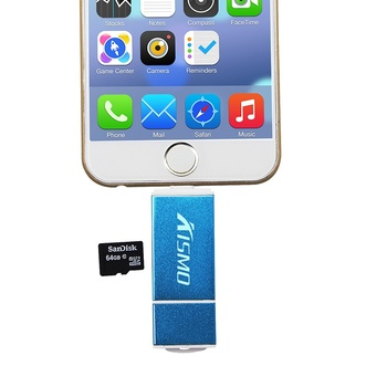 Kisomo Micro SD Card Reader Adapter Micro USB SD Memory Card Adapter for iPhone X 8 7 6 Plus 5S iPad Laptop OTG Card Reader
