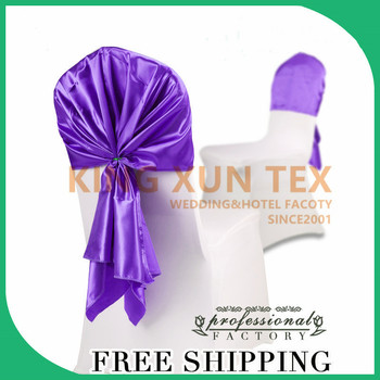 Good Looking 50pcs Satin Chair Hood Cap Chair Cover For Wedding Event Party Decoration