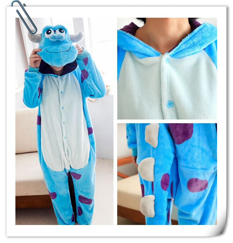Free Shiping Top Flannel Monster University Movie Costume -6667